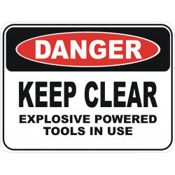 Use and Maintenance of Explosive Power Tool