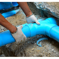 Installation of stormwater sewer water gas pipes etc.